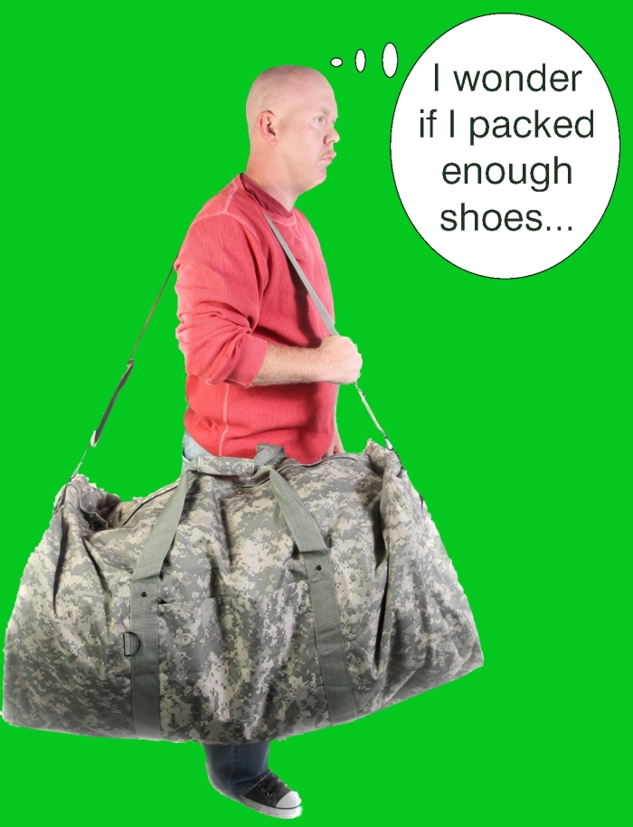 Dan with Army Bag