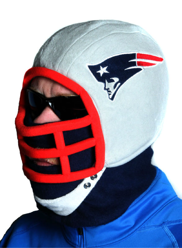 Dan in Patriots Fleece Helmet